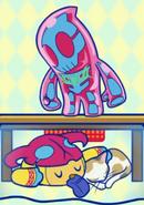 Sukemin found Zuzumin with invisibility