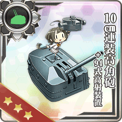 10cm Twin High-angle Gun Mount + Type 94 Anti-Aircraft Fire Director/10cm連装高角砲+94式高射装置 (10せんちれんそうこうかくほう+94しきこうしゃそうち)
