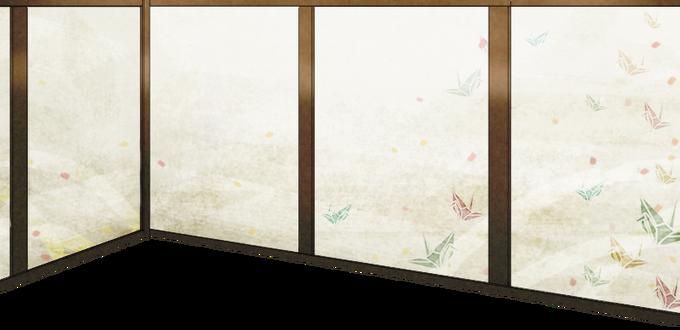 Wallpaper with origami crane motif.png