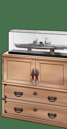 「Mogami」ship model and paulownia cabinet.png
