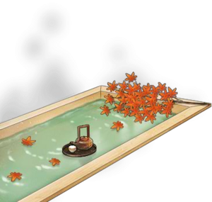 Hinoki wood hot spring bath+Fall 2016 with Tea.png