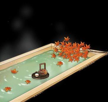 Hinoki wood hot spring bath+Fall 2016 with Tea