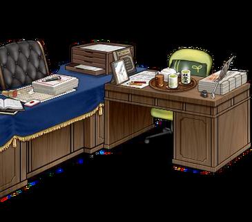 Secretary ship and admiral's desk Green full