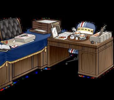 Secretary ship and admiral's desk Blue full