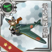 Type 0 Fighter Model 52 021 Card old