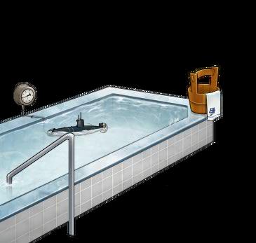 Cold water bath with Kouhyouteki