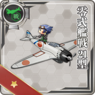 Type 0 Fighter Model 21 020 Card old