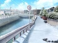 Road from Minase to school