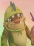 Gobble in his Dragon costume
