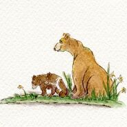 803 with her remaing 2 spring cubs July 7, 2020 sketch by Amanda Thompson .02