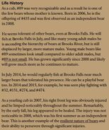 BACKPACK 89 INFO 2018 BoBr PAGE 69 LIFE HISTORY ONLY