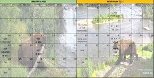 2021 BEAR A DAY CALENDAR w YEAR 01 JAN & FEB 402s SUBS CORRECTED SNIP 01