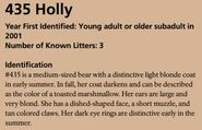 HOLLY 435 INFO 2016 BoBr PAGE 47 IDENTIFICATION ONLY