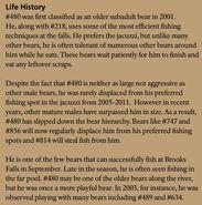 OTIS 480 INFO 2016 BoBr PAGE 72 LIFE HISTORY ONLY