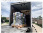 Equipment loaded on truck June 9, 2020 comment and photo via Courtney at Explore