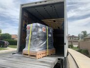 Equipment loaded on truck June 9, 2020 photo via Courtney at Explore