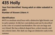 HOLLY 435 INFO 2018 BoBr PAGE 51 IDENTIFICATION ONLY