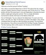 2014 FAT BEAR TUESDAY 2014.09.30 08.00 KNP&P FB POST 1ST ANNUAL FAT BEAR TUESDAY w BRACKET
