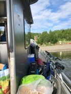 Ranger's boat trip across Naknek Lake and arrival at Brooks Camp June 13, 2020 NPS photo by Ranger Naomi Boak.04