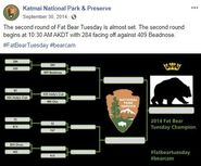 2014 FAT BEAR TUESDAY 2014.09.30 10.11 KNP&P FB POST CONTEST PROGRESS UPDATE w UPDATED BRACKET