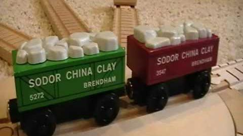 Sodor China Clay Cars Review ThomasWoodenRailway Discussion 39
