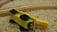 Sodor Railway Repair's ballast car off the rails