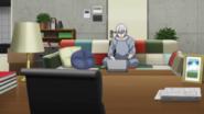 Mihai remotely instructs Kabane, Akira, and Shiki (anime)