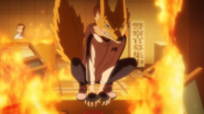 Kon transforms into her kitsune form (anime)