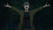 Akio celebrating his sucess (anime)
