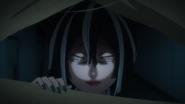 Reika threatens Kabane, Akira, and Shiki to leave the building (anime)
