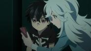 Akira and Kabane listening to Mihai's orders (anime)