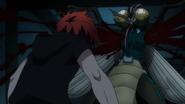 Kabane rips off Reika's arms (anime)
