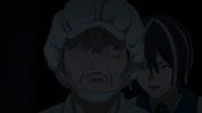 Reika lures the worker in a dark room (anime)