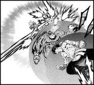 Hayato vs Kenichi y Miu