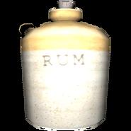 Old Empty Rum Bottle