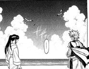 Enishi and Kaoru on the island