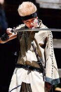 Cho lick his sword