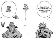 Geezer predicts that Enishi will also some day find a new purpose in his life.