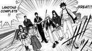 Kenshin and others landing enishi's island