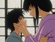 Tomoe and sad Enishi in Trust & Betrayal OVA