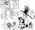 MangaKenshinAndKaoruAtTomoesGrave