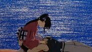Enishi cries in Kaoru's knees in Reflections OVA