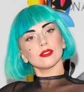 Gaga blue hair