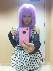 Kerli purple hair 2