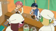Natsumi and Fuyuki eating Ramen