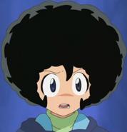 Fuyuki wearing Keroro's afro