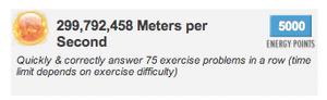 299,792,458 Meters per Second as Sun Badge