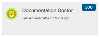 A user with the Documentation Doctor badge.