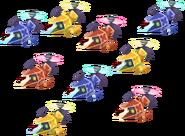 Squadriglia Gummi Colorata