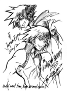 343px-Sora and Riku (Japan Expo 2012) Sketch